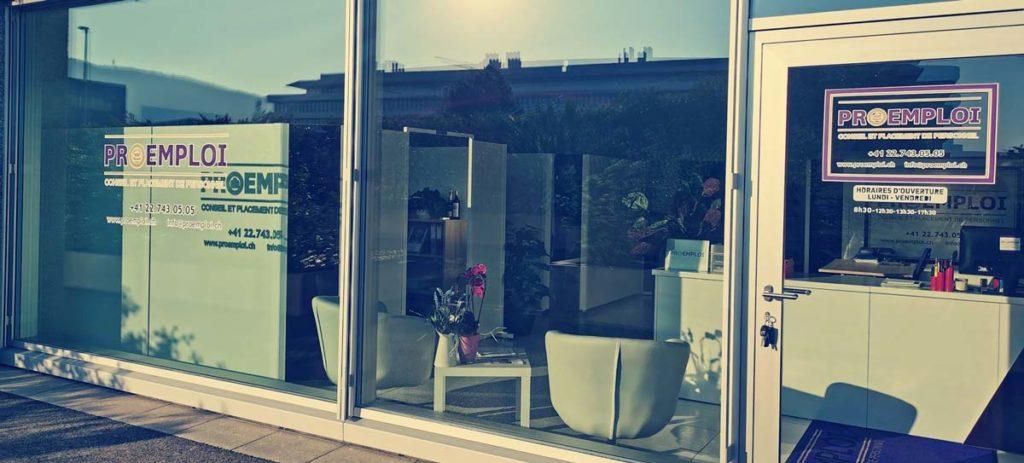 vitrine ProEmploi Geneve